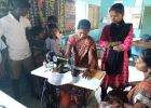 Khomarpada School Review and KP Training on Sewing Machine