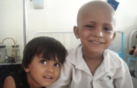 Arjun (5 Yrs) with his sister. They lost their father 1 month ago.