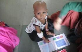 Children enjoyed coloring activity.