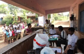 Team 2- led by Sister Sumita Tembe and Dr Satish started checking up boys (male patients).
