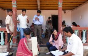 Volunteers and doctors