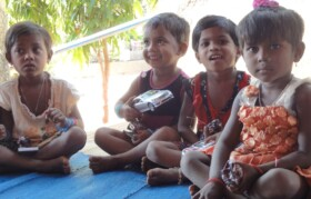 Aanganwadi kids were also presented with toys. Their happy faces after receiving the gifts is always a great joy for us!