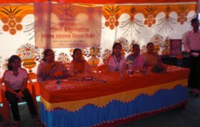 Formal inauguration of camp by announcement by Principal of Janathepada School
