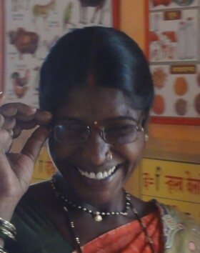 Happy receiving glasses, but shy wearing it!