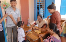 Children who attended camp also enjoyed goodies offered by team.