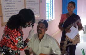 Dr Trupti, opthalmologist, carried out complete examination post check-up by optometrists.