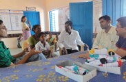 Patients being counselled and guided by volunteers