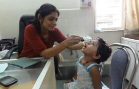 Child given medicine