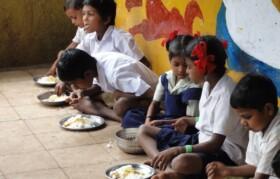 Kids having meal