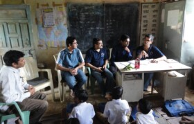 Team Suhrid reviewing the progress of nutrition project - SUN at PalavPada-Anantpur