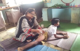 School was also administered booster dosage of Tetanus vaccine.