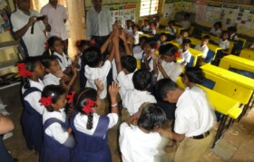 Kids at Gurav Pada were waiting for team Suhrid to come for showing their talent. Dance performance....