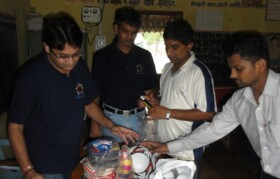 Sports equipments invetory taken before distributing to kids for school.