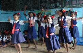 Kids are eager to show their talent by way of dance.