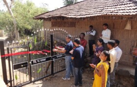 Inauguration of the gate raised with support of Suhrid Foundation