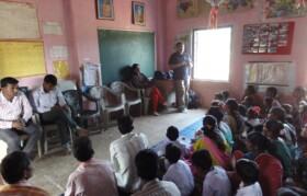 Team Suhrid addressing parents at Janathepada