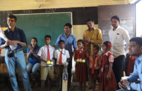 Sports goods distribution at Palavpada Anantpur
