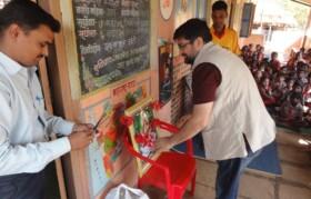 Customary ritual of Saraswati Puja