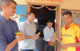 Welcome of Suhrid team by school members