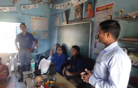 Teachers giving background of the project