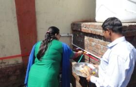 Inauguration of water project Ms Susmita Tembe