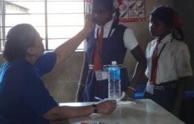 Doctor checking Palavpada Anantpur kids
