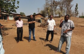 Discussion on water conservation with water experts at Barafpada
