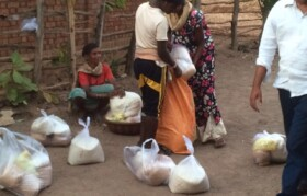 Happiness of villagers to carry home the ration was beyond explanation