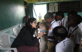 Ipromptu medical check up of children
