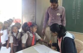 Kids lined up at Bahirampada for medical checkup