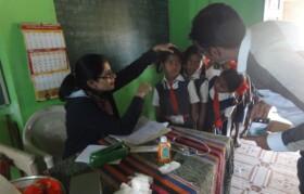 Check up of kids at Palavpada