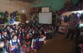 Attentive children... impressed with Dr Vijay's simplicity