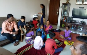 Children and parents in Mumbai.. getting ready for visiting doctors for checkup