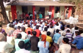Suhrid team and teacher explained Kaspada villagers about functioning of the center and how it can help them
