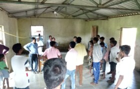 The meeting with KP village and visit to see the proposed place